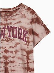 Classic Fit Crew Tee - New York Tie-Dye Burgundy Purple, PURPLE, alternate