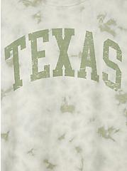 Classic Fit Crew Tee - Texas Tie-Dye Jade Green, JADE, alternate
