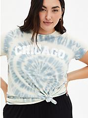 Classic Fit Crew Tee - Chicago Tie-Dye Blue, BLUE, hi-res