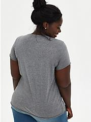 Classic Fit Crew Tee - Bowie Mineral Wash Grey, DEEP BLACK, alternate