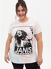 Plus Size Classic Fit Tunic Tee - Janis Joplin Tie-Dye Multi, MULTI, hi-res