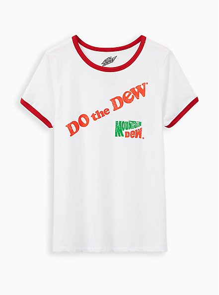 Classic Fit Ringer Tee - Mountain Dew White , BRIGHT WHITE, hi-res