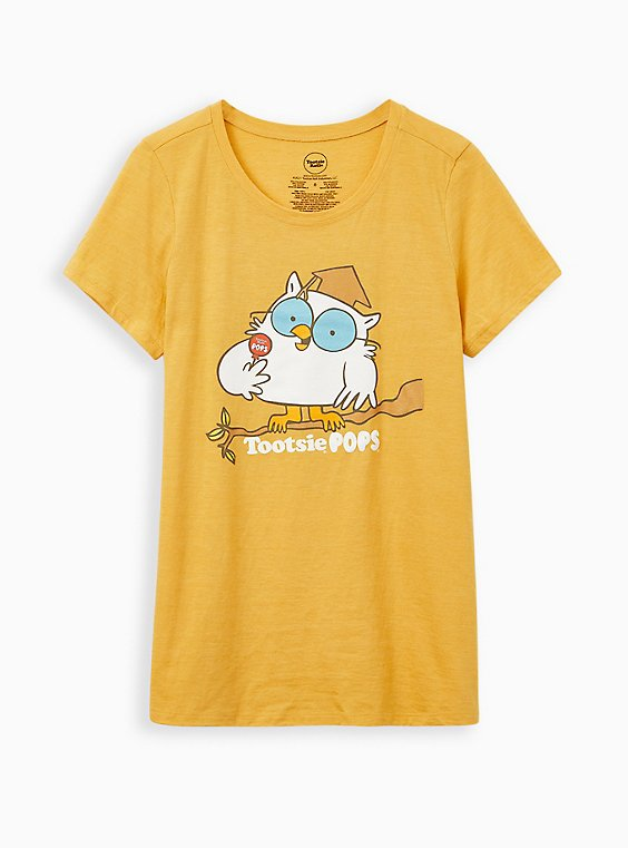 Classic Fit Crew Tee - Triblend Jersey Tootsie Roll Pop Golden Yellow, , hi-res