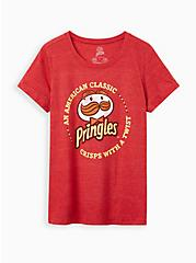 Classic Fit Crew Tee - Triblend Jersey Pringles Red, RED, hi-res