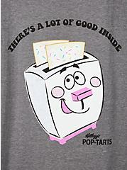 Classic Fit Ringer Tee - Pop Tarts Grey , MEDIUM HEATHER GREY, alternate