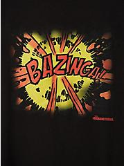 Slim Fit Crew Tee - Big Bang Bazinga Black, DEEP BLACK, alternate