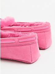 Hot Pink Faux Fur Bow Slipper (WW), HOT PINK, alternate