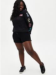 Disney Minnie Mouse Black Mineral Wash Fleece Sweatshirt, DEEP BLACK, alternate