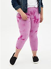 Capri Premium Legging - Tie-Dye Purple , MULTI, alternate