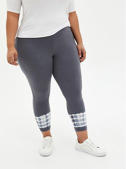 Crop Premium Legging - Tie-Dye Ankle Grey , MULTI, alternate