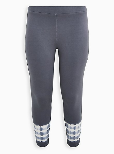 Crop Premium Legging - Tie-Dye Ankle Grey , MULTI, hi-res