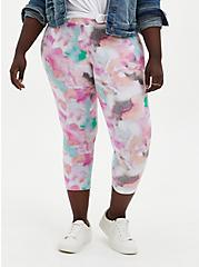 Crop Premium Legging - Watercolor Multi, MULTI, alternate