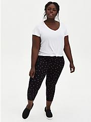 Crop Premium Legging - Strawberry Print Black, MULTI, alternate