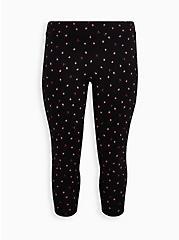 Crop Premium Legging - Strawberry Print Black, MULTI, hi-res