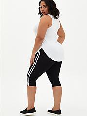 Pedal Pusher Premium Legging - Side Stripe Black, BLACK, alternate