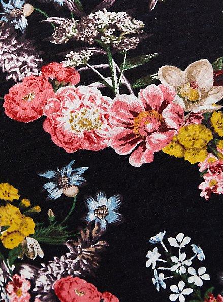 Off Shoulder Tee - Heritage Slub Floral Black , OTHER PRINTS, alternate