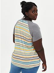 Raglan Tee - Triblend Jersey Multi Stripe, OTHER PRINTS, alternate