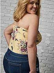 Yellow Floral Foxy Sweetheart Tube Top, OTHER PRINTS, alternate