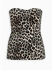 Leopard Foxy Sweetheart Tube Top, LEOPARD, hi-res