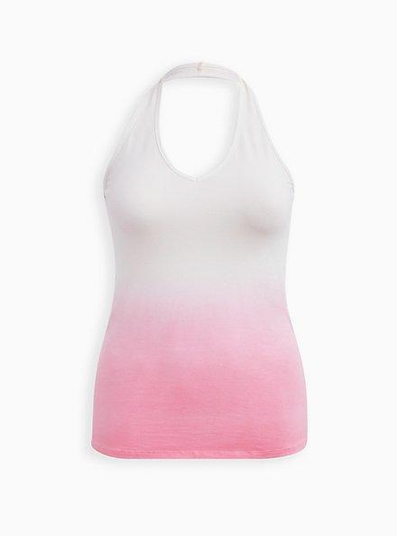 Pink Dip-Dye Foxy Halter Top, OTHER PRINTS, hi-res