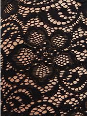 Black Lace Sweetheart Off Shoulder Top, DEEP BLACK, alternate