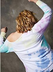 Multi Tie-Dye Off Shoulder Sweatshirt, OTHER PRINTS, alternate