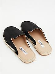Black Faux Suede Espadrille Mule (WW), BLACK, alternate