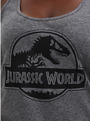 Jurassic World Logo Active Tank, MEDIUM HEATHER GREY, alternate