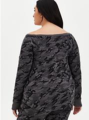 Jurassic World Camo Off-Shoulder Sweatshirt, , alternate