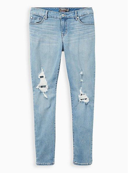 Boyfriend Straight Jean - Vintage Stretch Light Wash, UNDONE, hi-res
