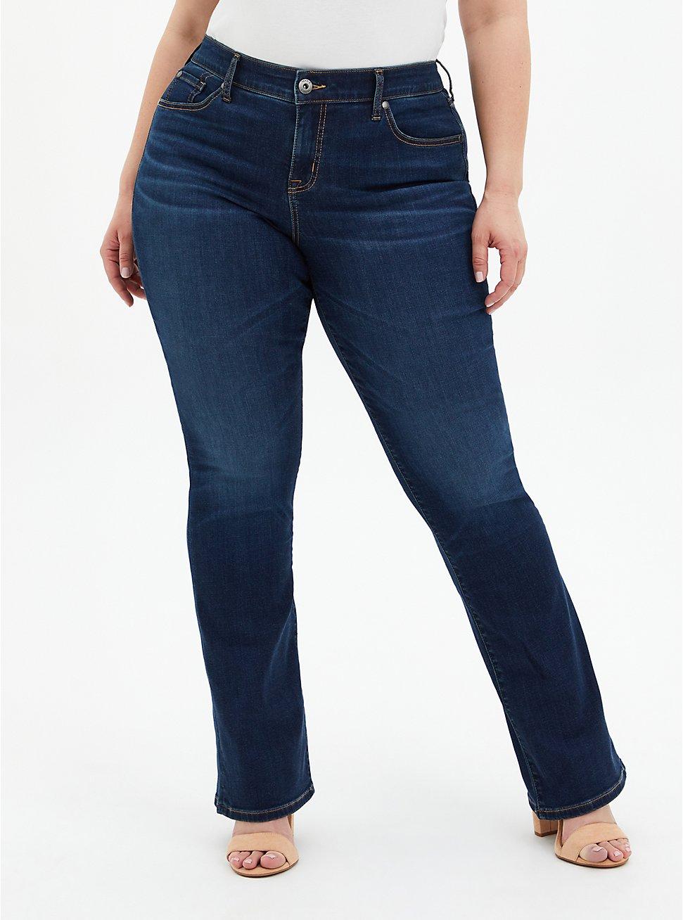 Mid Rise Slim Boot Jean - Super Soft Eco Medium Wash , HYDROSPHERE, hi-res