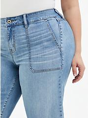 Crop High Rise Wide Leg Jean - Vintage Stretch Light Wash, UNDONE, alternate
