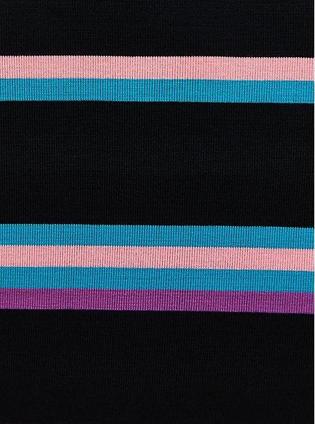 Super Soft Black Neon Stripe T-Shirt Dress, STRIPE - MULTI, alternate