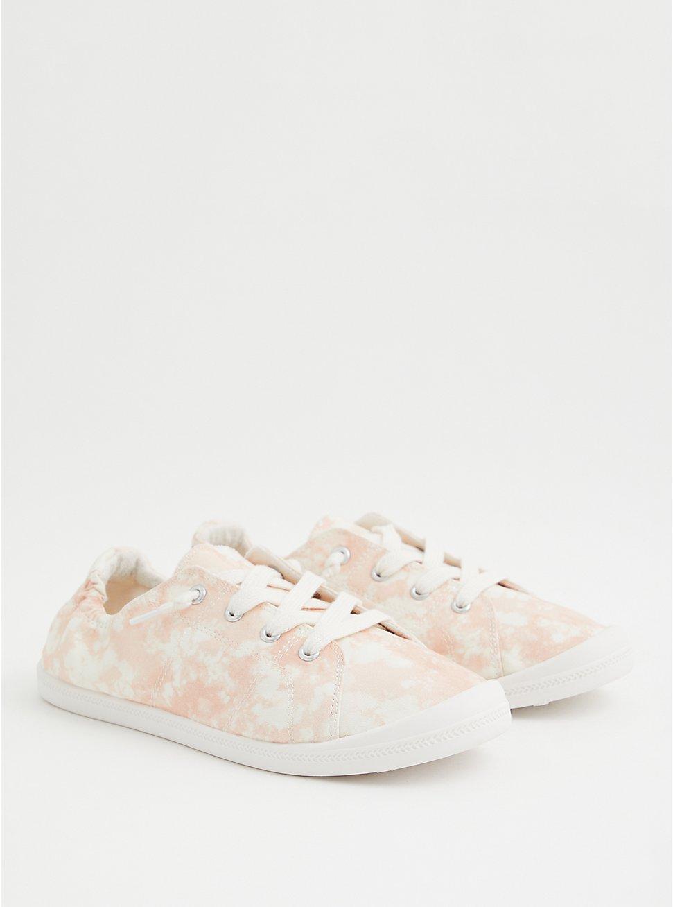 Riley - Blush Tie-Dye Canvas Sneaker (WW), BLUSH, hi-res