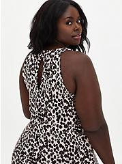 Plus Size Super Soft Leopard Mini Trapeze Dress, LEOPARD, alternate