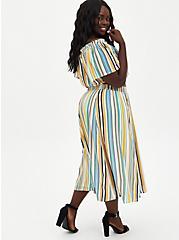 Multi Stripe Off-Shoulder Gauze Skirt Set, STRIPE - MULTI, alternate