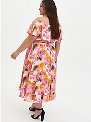 Multi Watercolor Tie-Dye Off Shoulder Skirt Set, TIE DYE, alternate