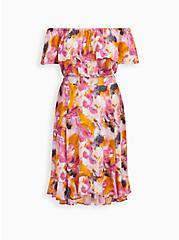 Multi Watercolor Tie-Dye Off Shoulder Skirt Set, TIE DYE, hi-res
