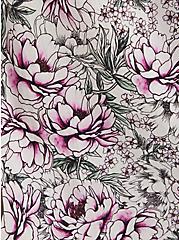 Ivory Floral Poplin Shirt Dress, FLORAL - IVORY, alternate
