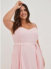 Light Pink Gauze Tiered Maxi Dress, ALMOND BLOSSOM, alternate