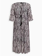 Multi Tie-Dye Chiffon Button Up Maxi Dress, , hi-res