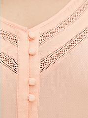 Peach Embroidered Bell Sleeve Blouse, PEACH NECTAR, alternate