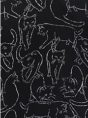 Madison - Black Cats Georgette Blouse, CATS - BLACK, alternate