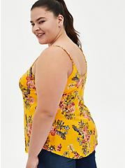 Ava - Yellow Floral Challis Cami, FLORAL - YELLOW, alternate