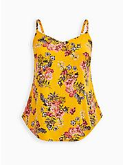 Ava - Yellow Floral Challis Cami, FLORAL - YELLOW, hi-res