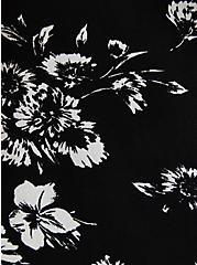 Black Floral Crepe Chain Front Tank , FLORAL - BLACK, alternate