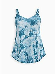 Ava - Teal Tie-Dye Challis Cami, TIE DYE-BLUE, hi-res