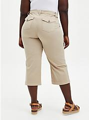 Crop Wide Leg Utility Pant - Twill Khaki, KHAKI, alternate