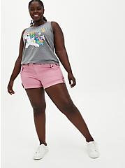 Blush Pink Twill Military Short, POLIGNAC, alternate
