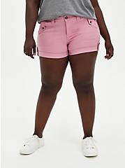 Blush Pink Twill Military Short, POLIGNAC, hi-res